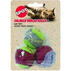 Ethical Pet Burlap Balls Cat Toy with Catnip, 3 Pack SKU 7723402089