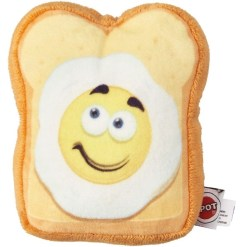 Ethical Pet Fun Food Egg on Toast Plush Dog Toy, 5 in. 7723454423