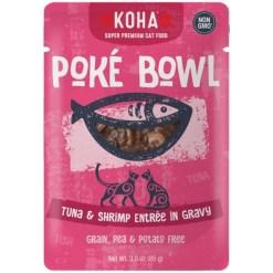 Koha Poké Bowl Tuna & Shrimp Entrée in Gravy for Cats, 3-oz Pouch SKU 1104802252