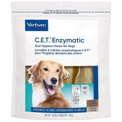 Virbac C.E.T. Enzymatic Oral Hygiene Dental Dog Chews, 30 Count SKU 1451402089