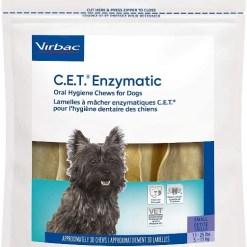 Virbac C.E.T. Enzymatic Oral Hygiene Dental Dog Chews, Small, 30 Count SKU 1451402087