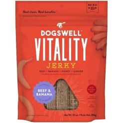 Dogswell Vitality Beef & Banana Jerky Dog Treats, 10-oz SKU 9380429280