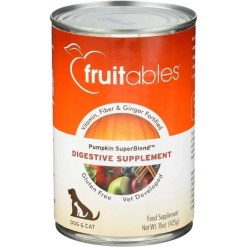 Fruitables Pumpkin SuperBlend Digestive Dog & Cat Supplement, 15-oz SKU 9535200208