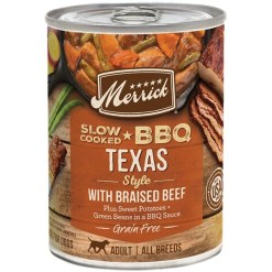 Merrick Grain Food Slow-Cooked BBQ Texas Style with Braised Beef Free Wet Dog, 12.7-oz SKU 2280828400