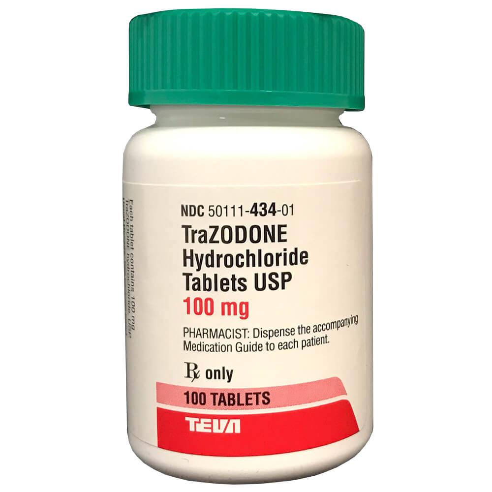 Rx Trazodone 100 mg x 100 Tabs