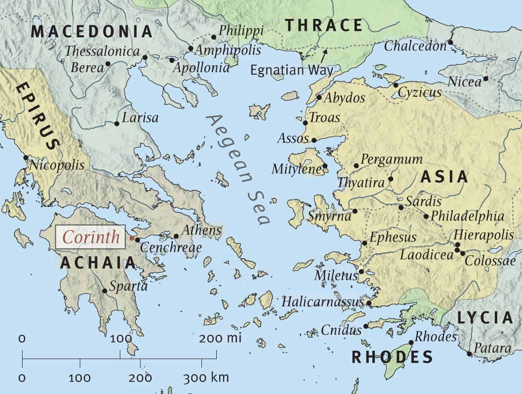 Image result for map of corinth