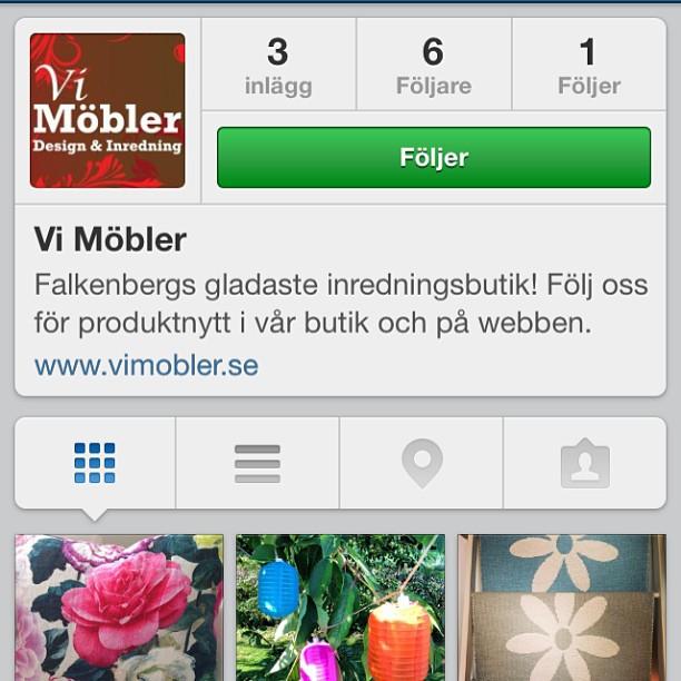 Äntligen finns Falkenbergs gladaste inredningsbutik på Instagram. Följ @vimobler! Det kommer att göra ditt flöde finare och roligare!