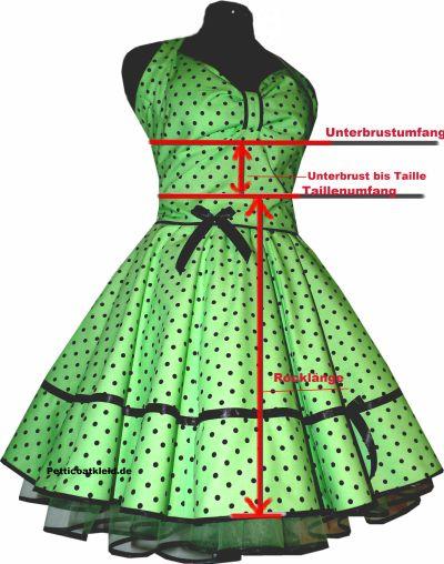 Taille Messen Kleid