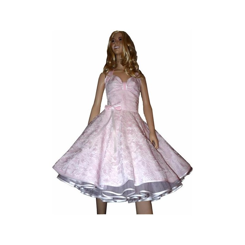 Spitzenkleid Hochzeitskleid 50er Jahre zum Petticoat rosa wei