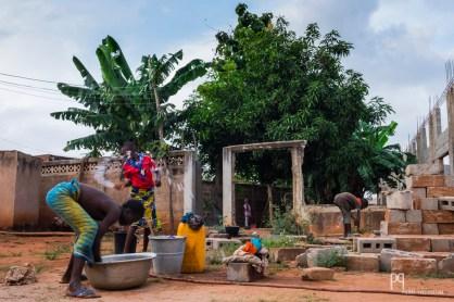 Corvée de lessive dans une colonie estivale gérée par la paroisse locale. // Gbeova - 2016