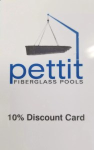 Pettit Fiberglass Pools Discount Card