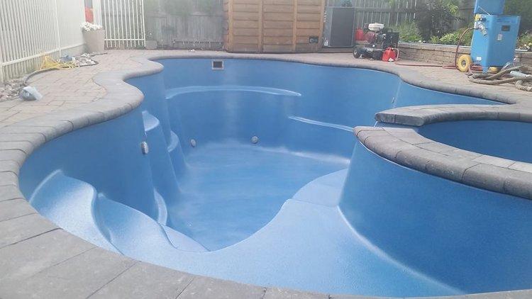Smooth Fiberglass Pool Interior Pasco County Florida