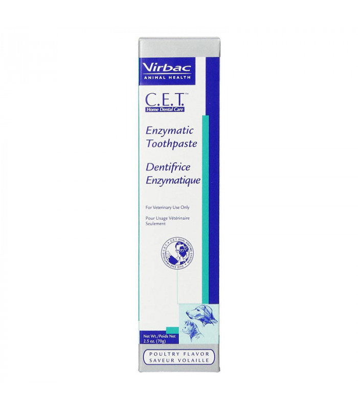 Virbac CET Enzymatic Toothpaste Poultry Flavor 70g for ...