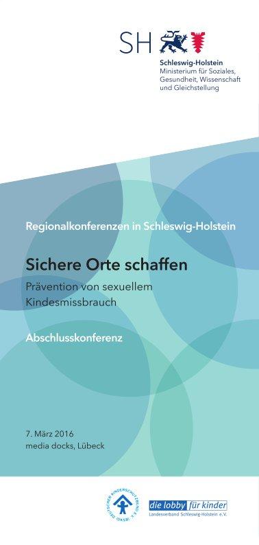 Abschlusskonferenz Sichere Orte 7.3.2016 Lübeck