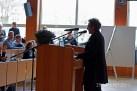 Geschäftsführerin Ursula Schele eröffnet die Veranstaltung