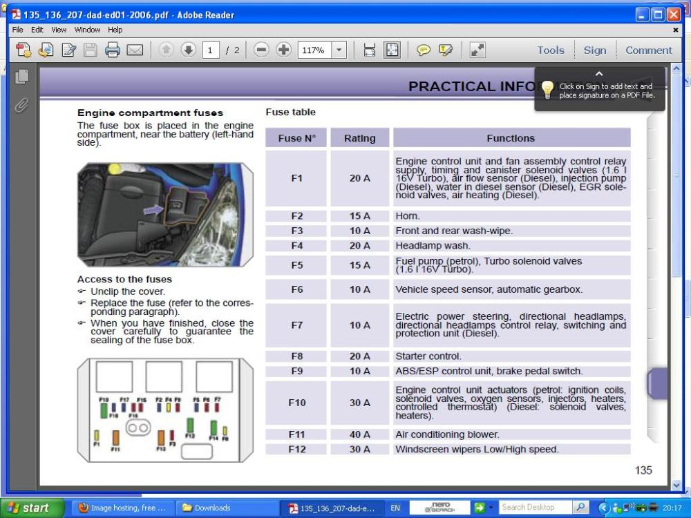 medium resolution of poistka pre motorcek ostrekovaca peugeot 207 peugeot peugeot 207 engine fuse box diagram peugeot 207 cc