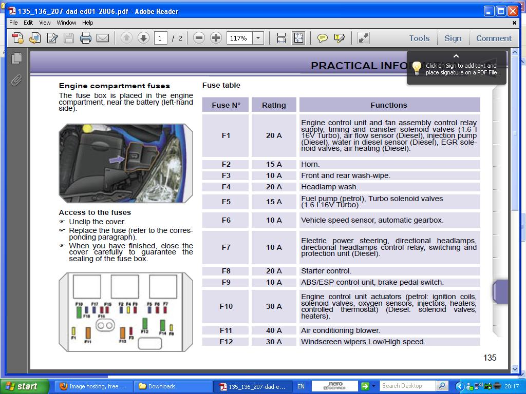 hight resolution of poistka pre motorcek ostrekovaca peugeot 207 peugeot peugeot 207 engine fuse box diagram peugeot 207 cc