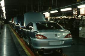 Production de la peugeot 406 coupé