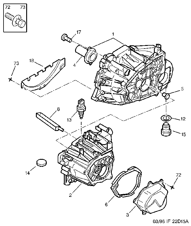 ENGINE CLUTCH HOUSING MANUAL GEARBOX