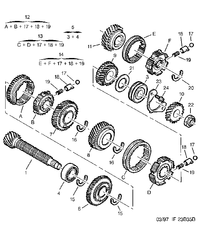 2316 H2 01 SHAFT 16 DTS ( 16 X 69)