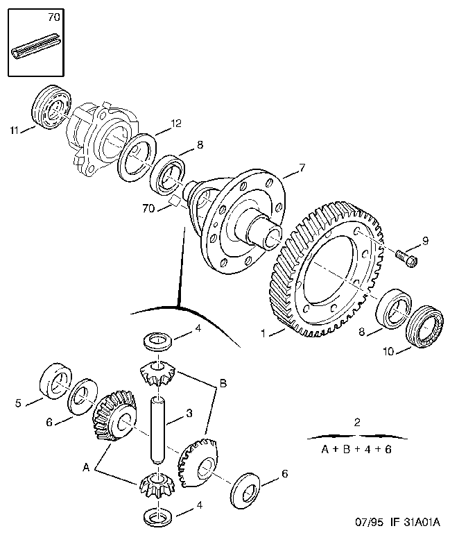 DIFFERENTIAL MANUAL GEAR BOX