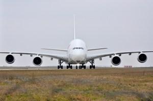 Un Airbus A380-861 d'Air France - Tous les Airbus A380 sont équipés du système BUSS, un équipement qui n'était pas fourni de série sur les avions des générations précédentes.