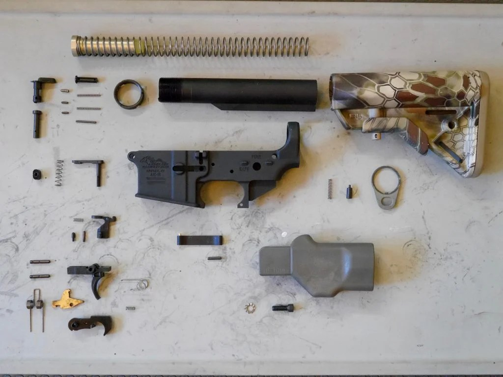 hight resolution of all ar 15 lower receiver parts