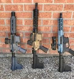 three ar pistols [ 1024 x 842 Pixel ]