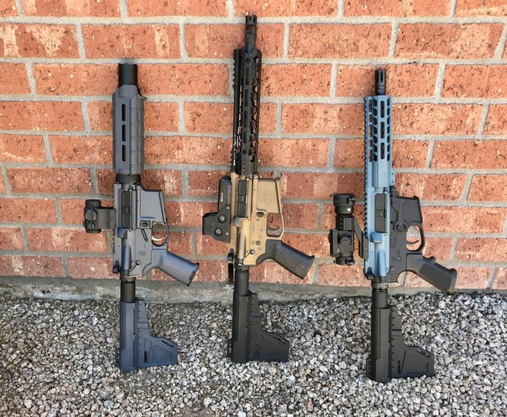 hight resolution of three ar pistols