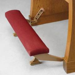 Chair With Kneeler Reclining Chairs On Sale Pew Accessories | Church Imperial Woodworks Pews.com