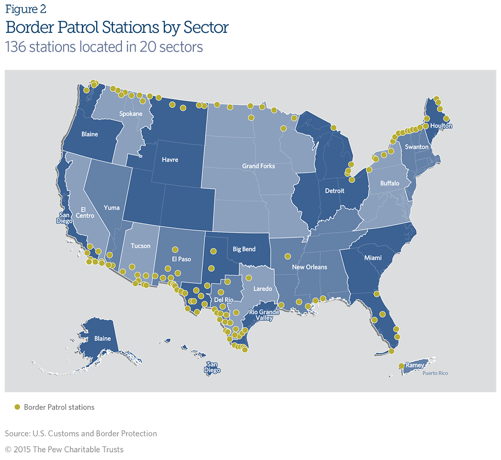 Checkpoints Border Interior Patrol Map