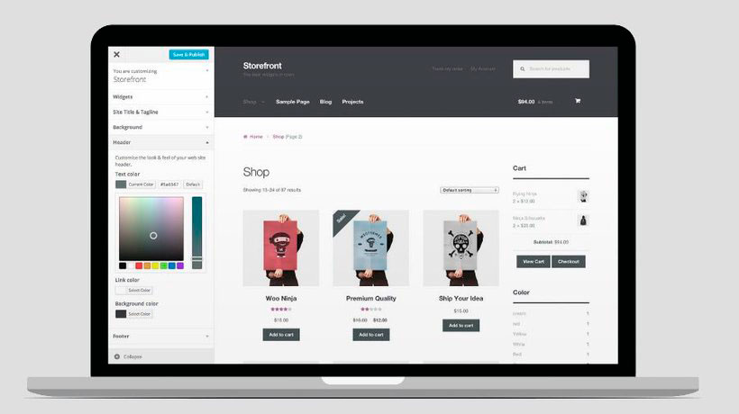 Diseño de tienda online Woocommerce
