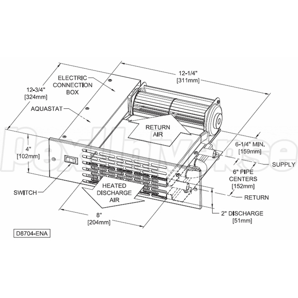 Beacon Morris K42 Kickspace Heater, Twin-Flo III Series