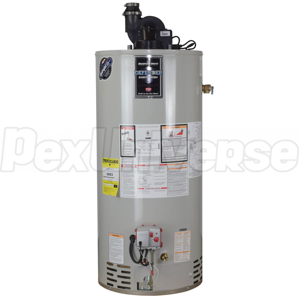 hight resolution of 40 gal ttw defender power vent water heater ng 6 yr wrty brand bradford white part rg2pv40t6n