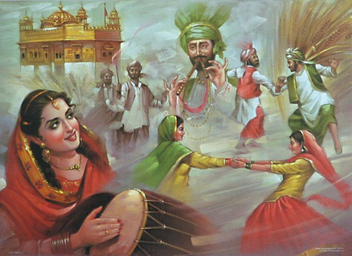 Punjabi Boy And Girl Wallpaper عکس نقاشی های کلاسیک هندی