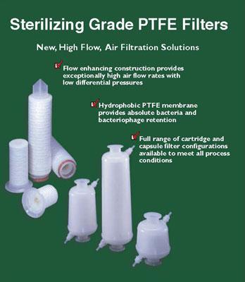 Candle filter. Bag filter. Cartridge filter