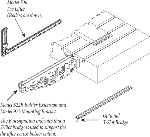 small resolution of quick die change qdc smed bolster extension traveling model 522 for use with mechanical lifters