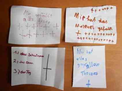 feedback von den kindern
