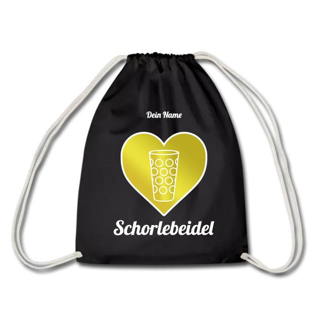 PFALZFANS Pfälzer Schorle-Weinfest-Turnbeutel Pälzer Schorlebeidel