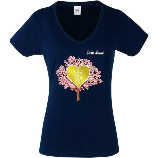PFALZFANS Pfälzer Schorle-Weinfest-T-Shirt MANDELBLÜTE Mandelblütenfest