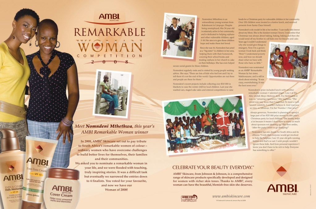 AMBI Skincare Remarkable Woman magazine promotion