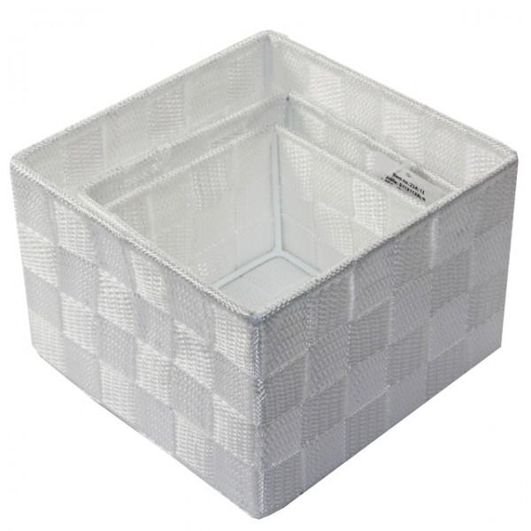 Aufbewahrungsbox 3er Set QUADRATISCH geflochten Korb Box Badezimmer Kiste Regal Mbel Wohnen