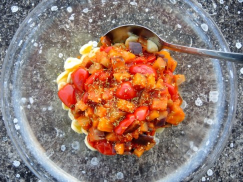 Orecchiette mit Tomaten und Auberginen