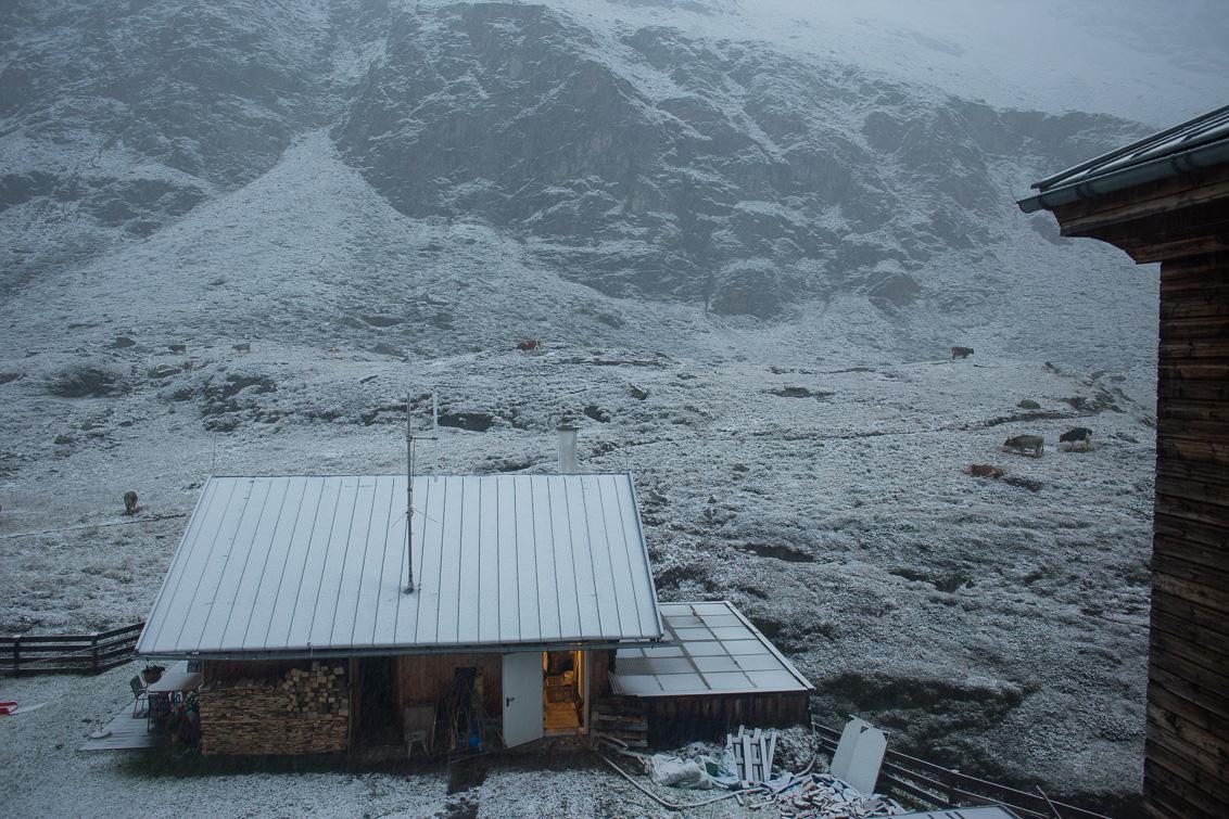 Franz-Senn-Hütte am Morgen