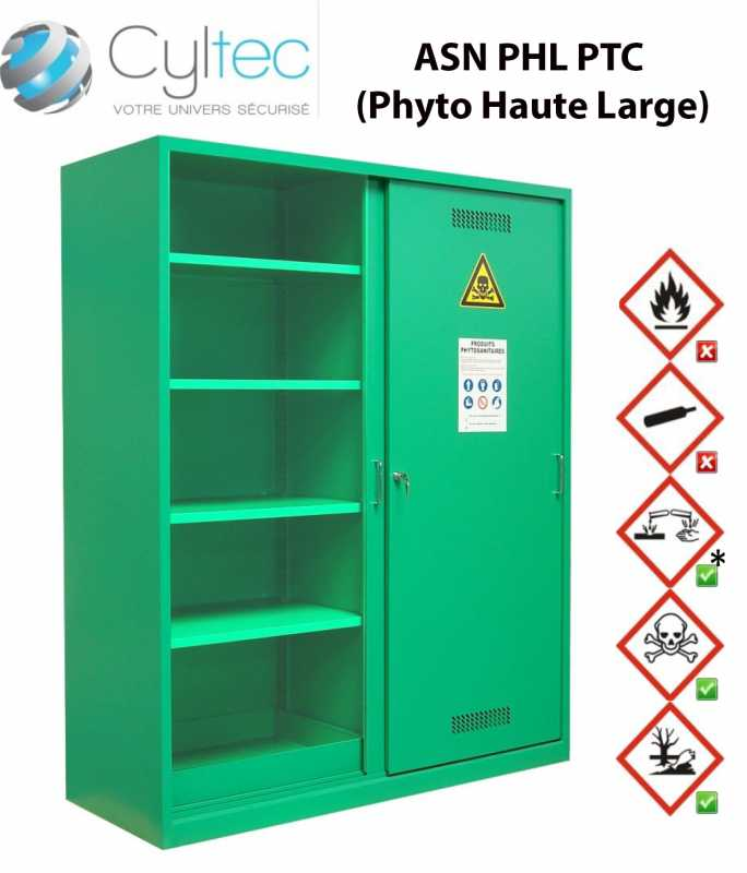 armoire produits phytosanitaires haute large