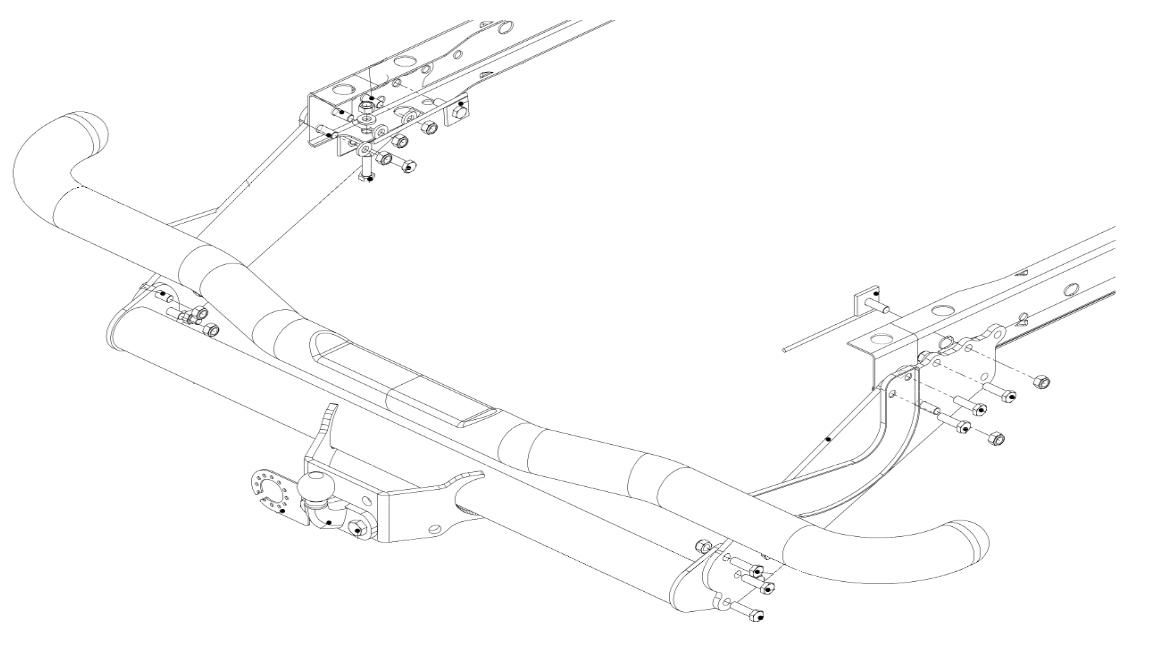 Towbar for Mitsubishi L200 (L. Bed / Under-Run Step) 2009