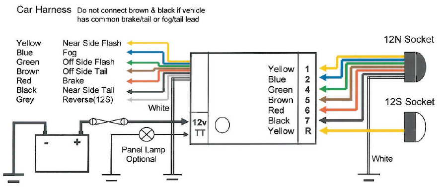 universal relay wiring diagram bosch quad pir bypass qt4 preistastisch de teb7as towing electrics towbar kit rh ebay co uk