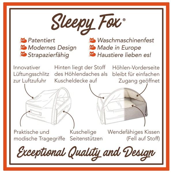 10. Sleepy Fox® Kuschelhöhlen Haustierbett - Design-Vorteile DE.jpg