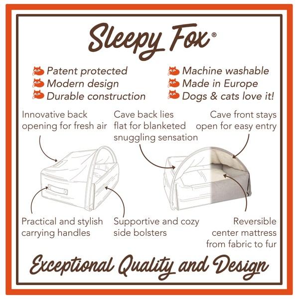 10. Sleepy Fox® Patented Snuggle Cave Pet Bed - Design Benefits EN.jpg