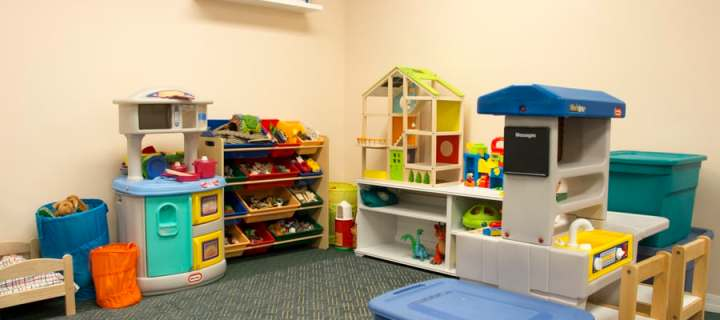 A picture of the imaginative play area - Play for Real Pediatric Occupational Therapy